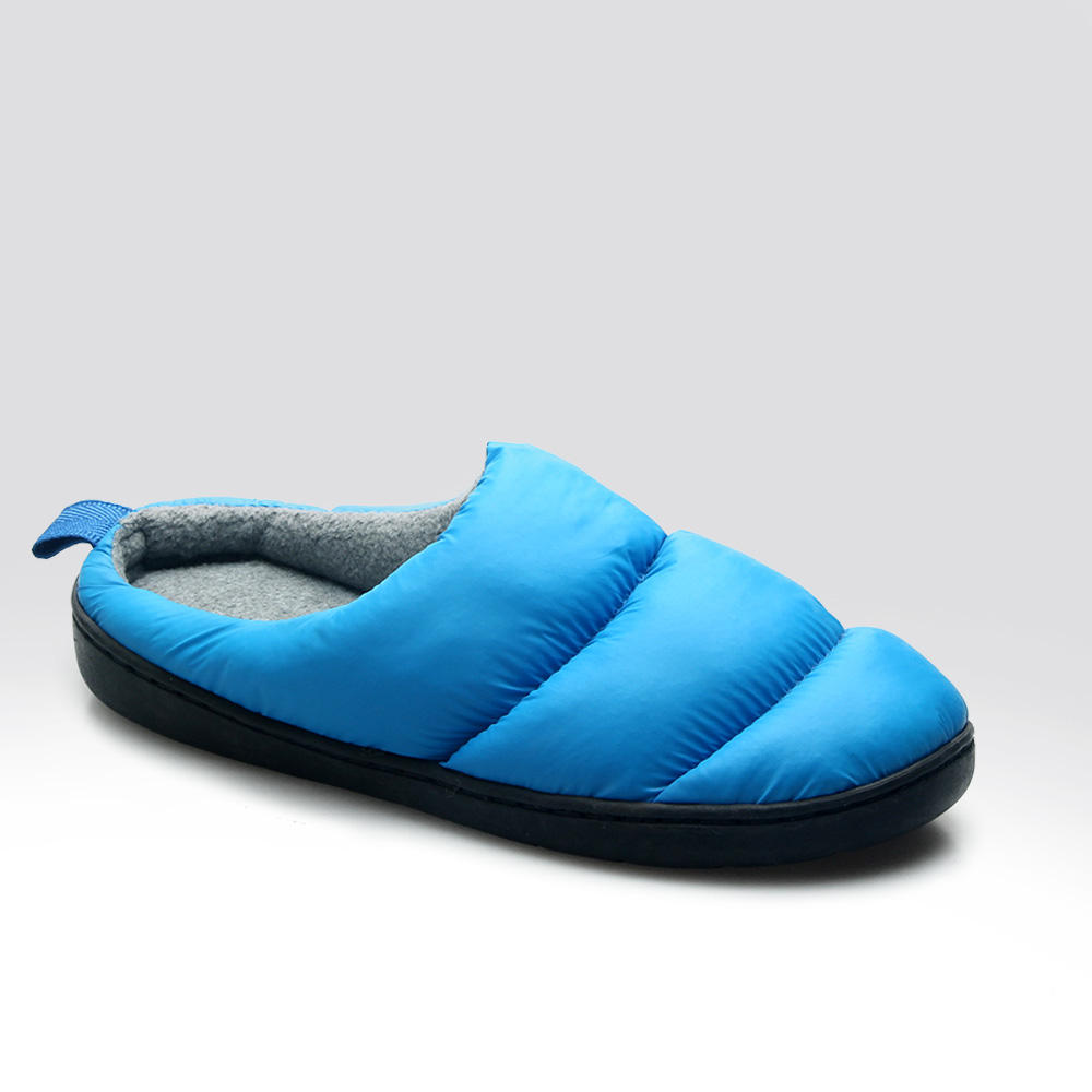 Non-Slip Rubber Sole outdoor indoor down slipper for men