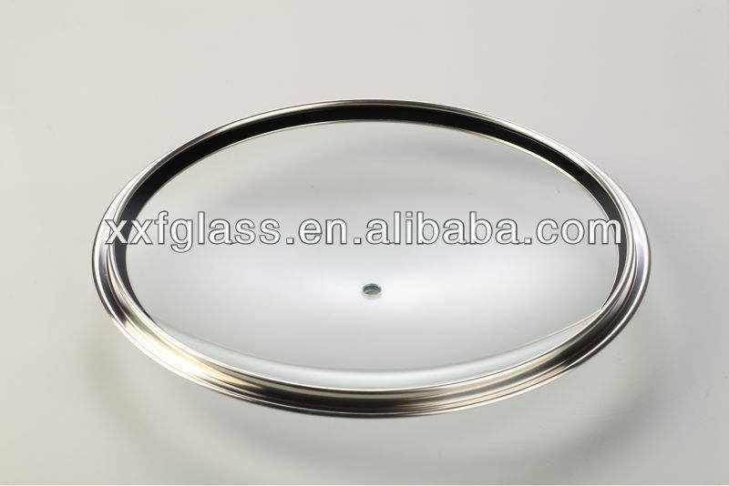 Wholesale 10-36cm normal dome cookware glass lids with stainless steel rim