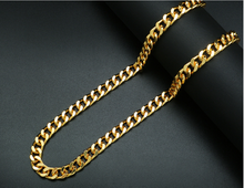 Best selling Yellow Gold 36 Inches Cuban Link Chain Necklace