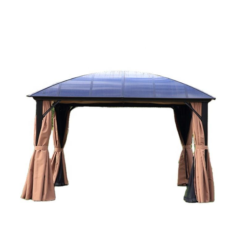 Professional Manufacturer Camping wholesale wood outdoor backyard tent gazebo weigh with rain gutters