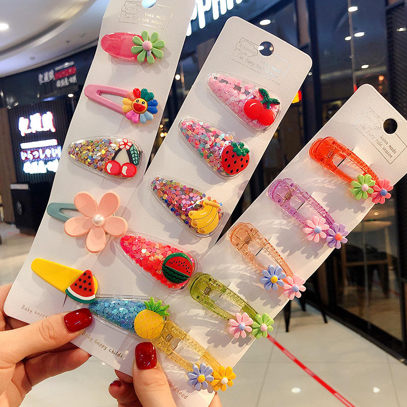Fashion Korean Children Hair Clips Sweet BB Hair Pins Cute Fruit Animal baby haar zubehör