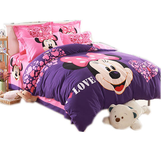 3D Design Kids cartoon style microfiber 100 polyester Printing Bed Sheet