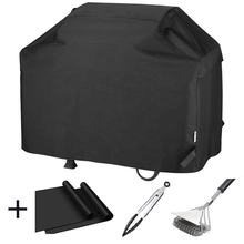 Heavy Duty Waterproof Barbecue Gas Grill Cover 55-inch BBQ Cover with BBQ grill mat,Tongs Brushes Bundles Gift
