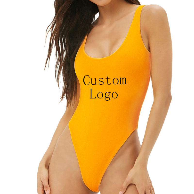Custom Fashion Female Sexy Sleeveless Summer OEM Cotton Bodysuits for Women Clubwear Top Clothes