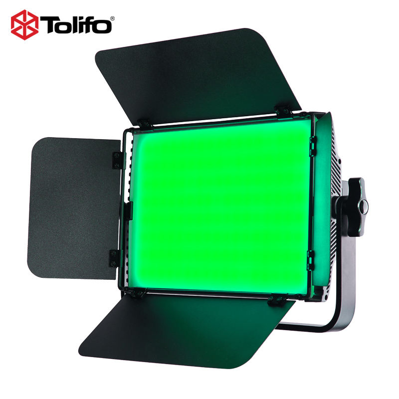 Tolifo Best Seller 600pcs SMD RGB LED 60W Bi Color DMX LED Video Light Soft LED Light Studio Camera Light