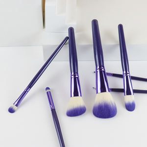 Makeup brush set promote with factory price wooden handle 7 pcs fast shipping the cheapest price with high quality