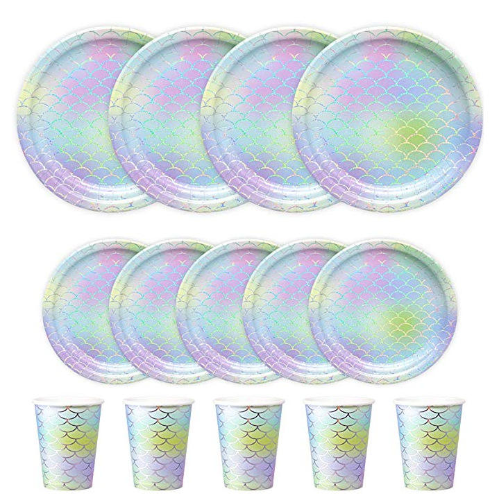 Hot Sale Wholesale Paper Cups Party Favor Disposable Paper Cake Food Tray Plate Dessert small Plate Disposable Paper Plate