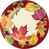 Thanksgiving Disposable round oval paper plate Maple leaf pattern printing thanksgiving table decorations
