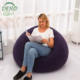 floding Single Leisure relax Chair Flocking Filled Furniture Inflatable Portable Air Sofa
