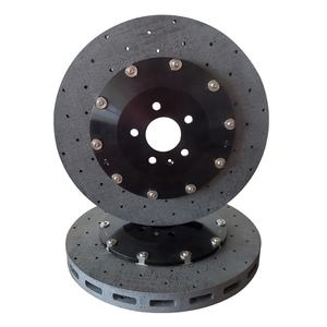 Performance Coated Front And Rear Drilled Ventilated Carbon Ceramic Brake Disc Sets For Sale