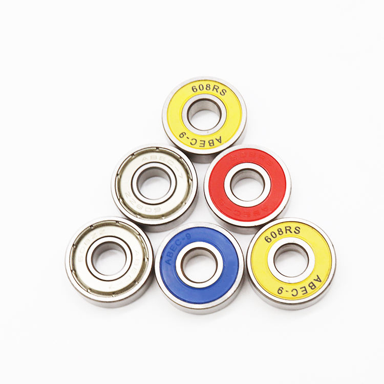 Bachi Low Noise Chrome Steel Skate Bearing Single Row Deep Groove Ball Bearing 608 ZZ 2RS
