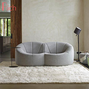 unique shape modern style english style red fabric sofa big small high end living room ultra modern low arm sofa