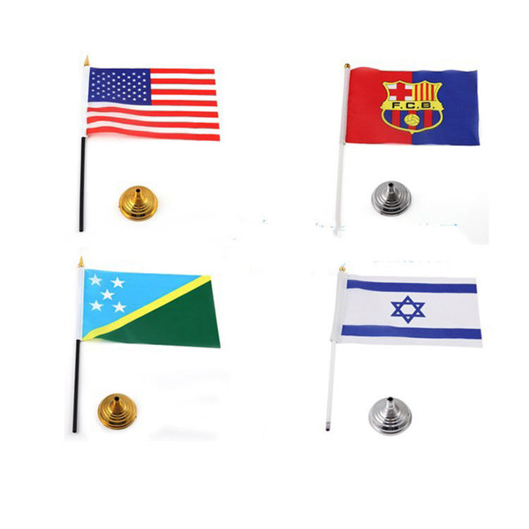 Custom National Color 30cm Plastic Hand Flag Pole For Sale
