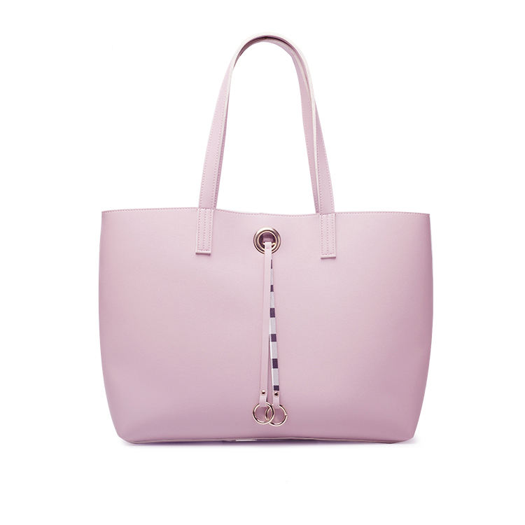 Best Selling Branded Luxury Custom Logo Women Tote Fashion Double Sided Pvc Leather Handbag