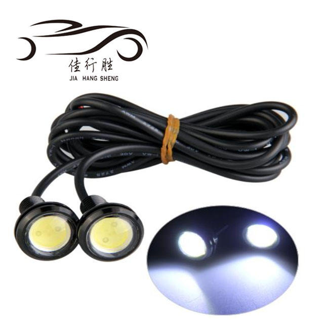 Eagle eye cob led chips drl fog light strobe flash led 23mm 18mm 12v 24v waterproof warning light daytime running light for car