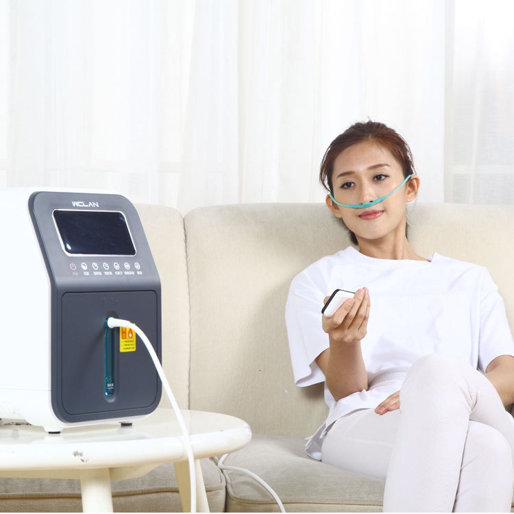 Hospital medical equipment 5L room oxygen concentrator with screen display