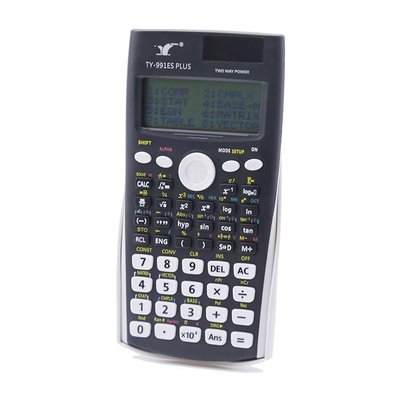 Wholesale TY-82MS 350ES 991ES plus dual power Solar AAA battery 240 417 functions large LCD screen student Scientific Calculator