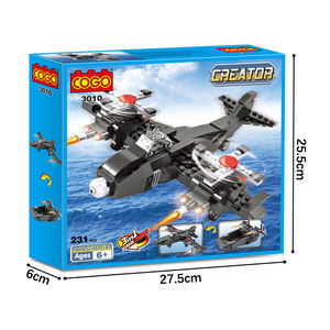 COGO wholesale fighter aircraft legoing creator puzzle building blocks kid toys 3 in 1 combination set