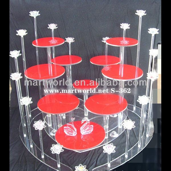 Hot wholesale hot sale customize acrylic dessert tower 10 tiers cake stands for wedding party banquet hotel decorations(S-362)