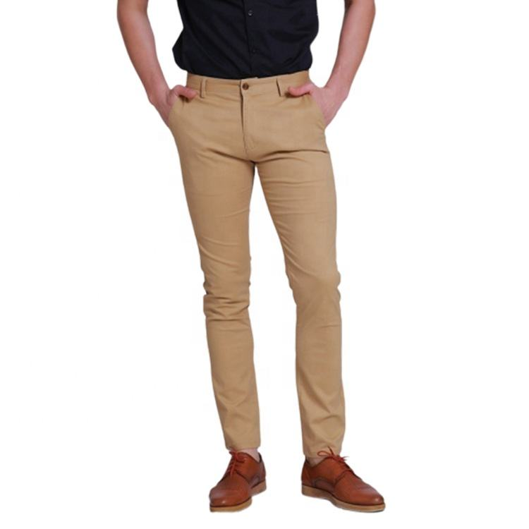 Hot Selling Lined Chino Man 100 Cotton Customized New Design Twill Pant, Slim Fit Trouser