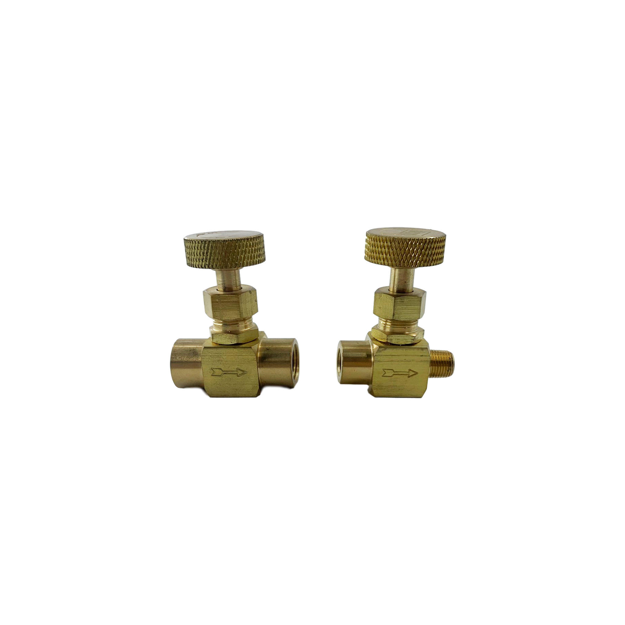 Medium and high pressure brass straight instrument needle valve
