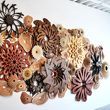 K064 Wooden coral craft corals pendant decoration wooden decoration craft craft hand made ornaments