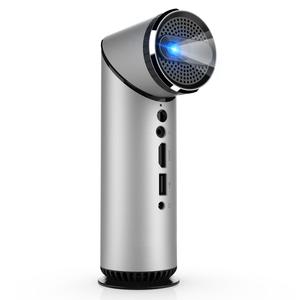 Moins cher Portable Hd Mini Projecteur Lentille 360 Degré Portatif Vertical Projecteur Pour Extérieur Réunion D'affaires