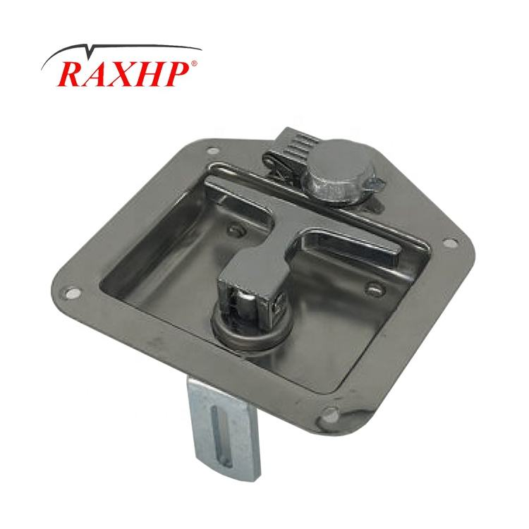 Car Trailer Folding T Shape Handle Lock Tool box Latch truck door paddle lock assembly