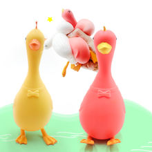 manufacturer wholesale NEW DESIGN TPR soft big duck shaped flour squeeze ball toy for stress release