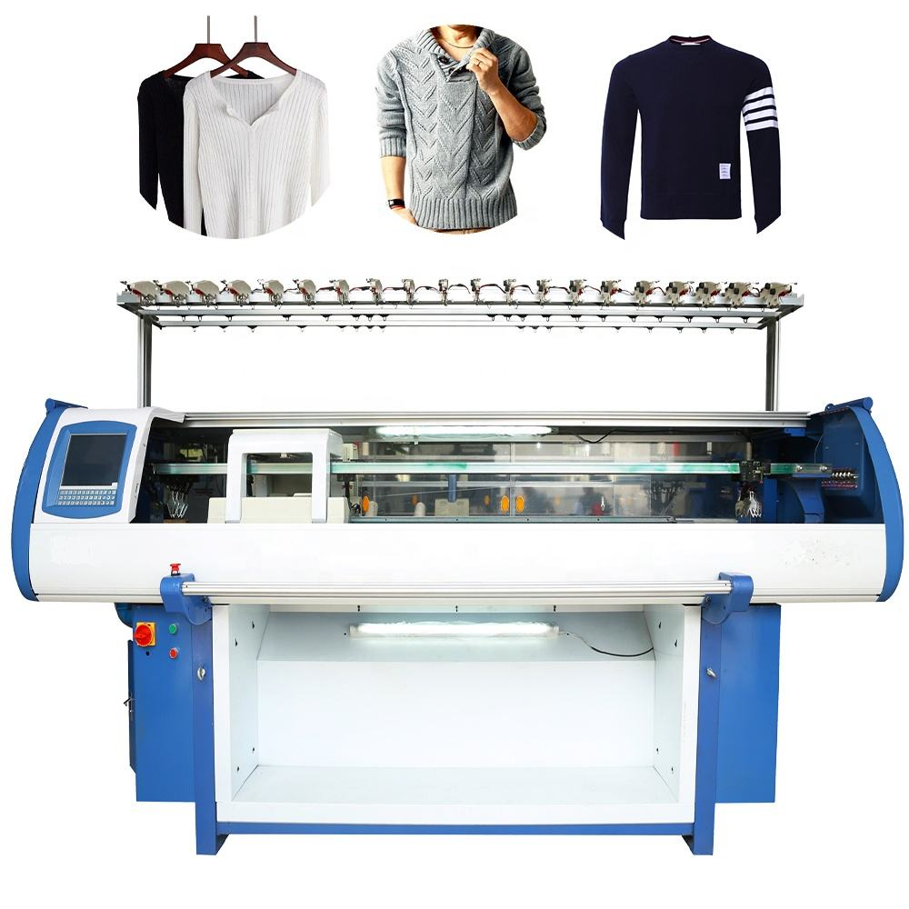 Factory own brand Three System sweater flat knitting machine with Wholesale prices
