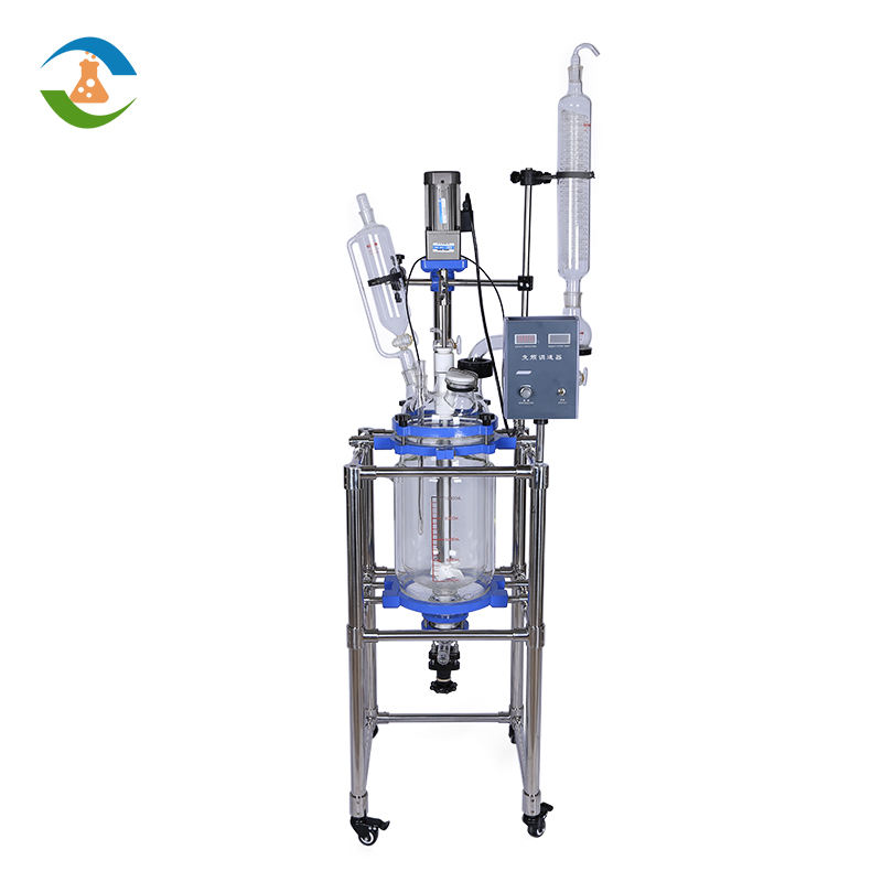 China 10L 20L 50L 100L PTFE Sealing Jacketed Glass Reactor Price