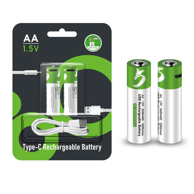 Alibaba New Products Mini Rechargeable USB Battery 450mAh 1.5V Battery AAA Pack Li-ion batteries