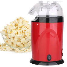 Air Popcorn Maker Hot Commercial With Butter Melting Container Plastic Electric Popper Overheat Protection