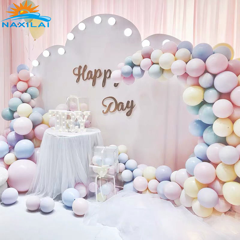 NAXILAI Acrylic Wedding Backdrop Round Stage White For Anniversary Celebration Decorative