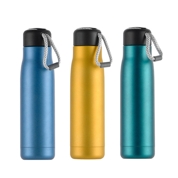 STOCKED Portable Sport Water Drinking Cup Double Wall Hot Insulated Bottle Stainless Steel Vacuum Thermos Flask