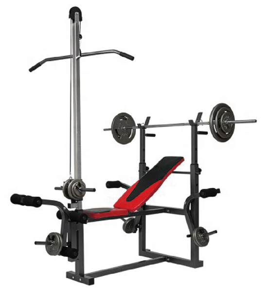 Multi function weight lifting bench fitness gym equipment HREBH17C