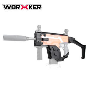 Worker STF-W004-1-B Dagger Shape Toy Gun FOR Nerf Kit Set For Upgrade Model,Plastic Shooting Blaster Gun Toy