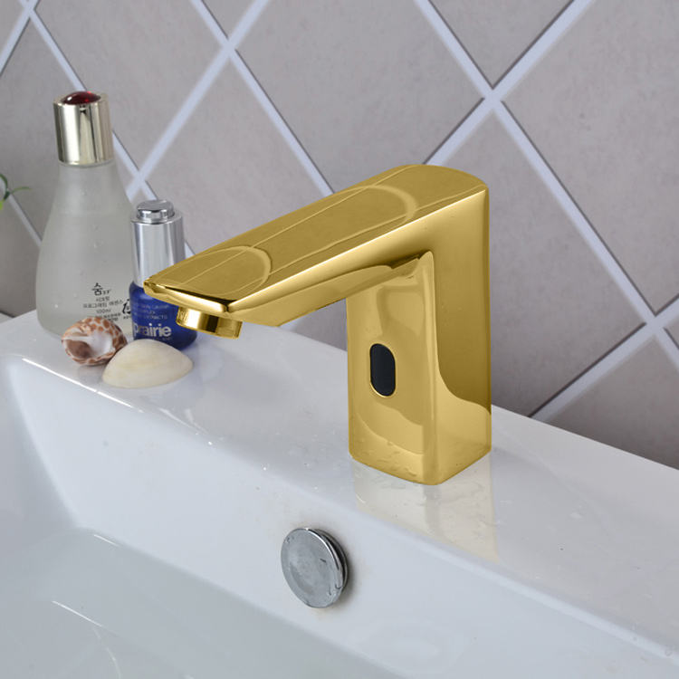 Water Automatic Touchless Faucets Infrared Basin Brass Auto Gold Sensor Faucet
