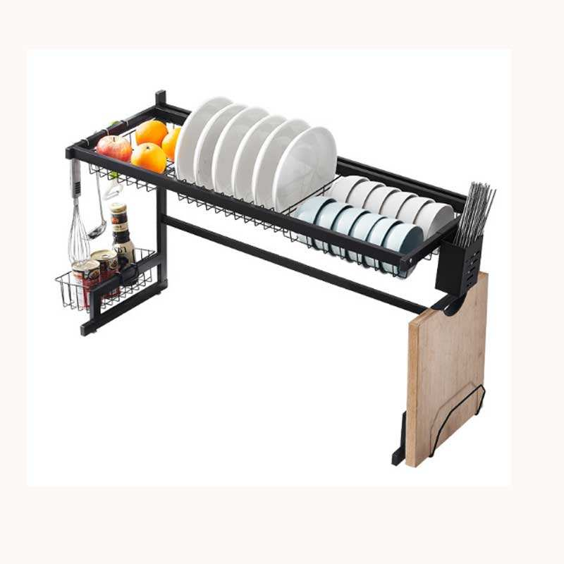 Cheap Factory Price 65/85cm standing 3 layer 2 tier dish drainer drying storage rack for kitchen sink