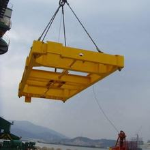 new semi-automatic crane wires lifting i tpye beam container spreader on seaport