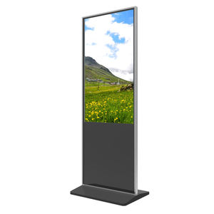 43 inch floor standing vertical 4K infrared touch screen restaurant video advertising digital display