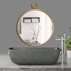 IVYDECO Hot Selling Modern Bedroom Bathroom Hotel Decorative Wall Mirror Gold Round Mirror Decor Wall Large Metal Mirror