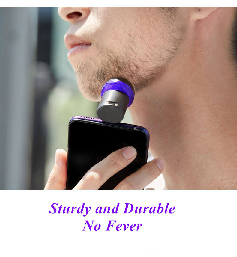 Electric Razor Rechargeable Battery Display Electric Phone Port Shaver For Men
