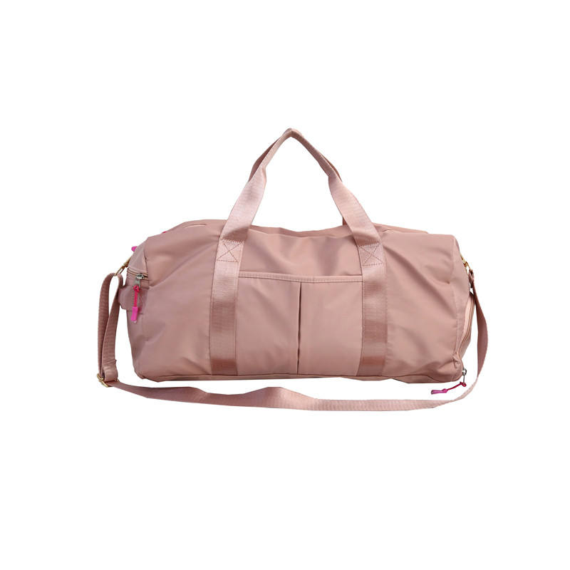 China Travelling Sports Gym Luggage Duffle Trolley Bags Foldable pink Travel Bag With Shoe Compartment