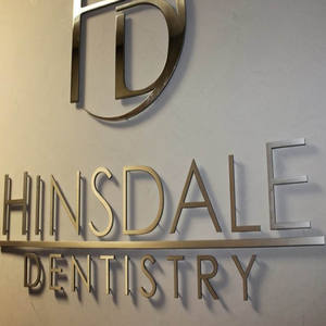 3D Dentist's Store Logo Name Sign Board Acrylic advertise Board LED Channel Letter