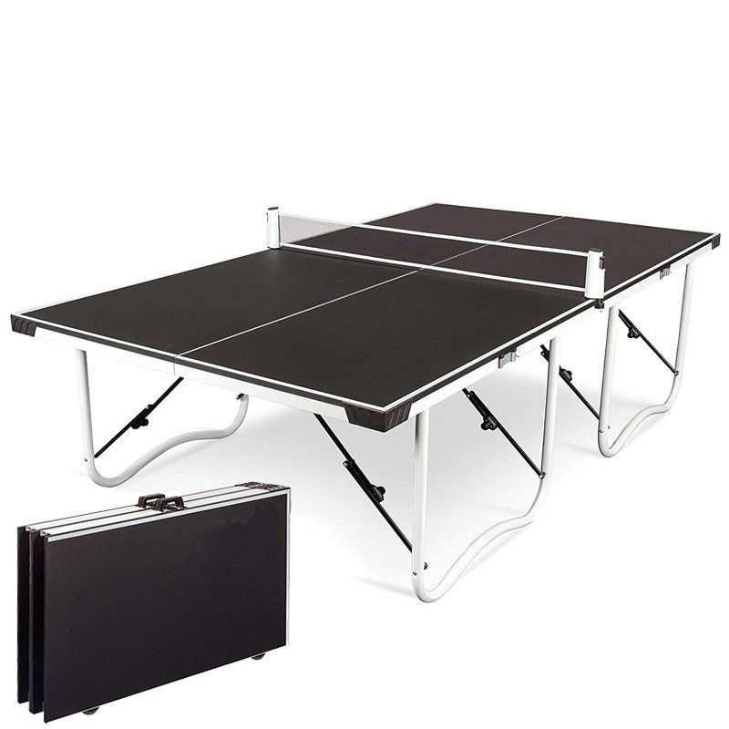 Table pliante table de ping-pong avec poulie
