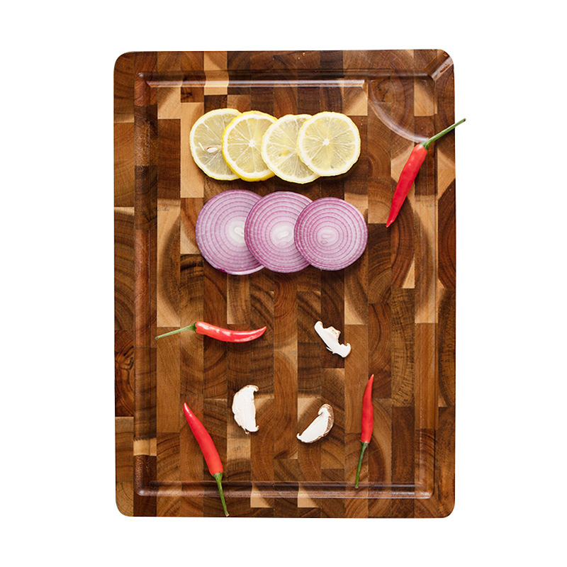 Amazon Hot Sale Custom Organic Butcher Square Kitchen Natural Cooking Boards Acacia Wood End Grain Chopping Wooden Cutting Board