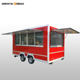 Crepes concession food trailer ice cream food carts for sale with stainless steel