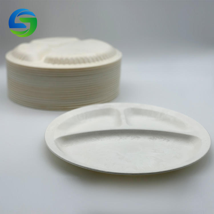 Eco Friendly Disposable Plates White Corn Starch Biodegradable Tableware Plates
