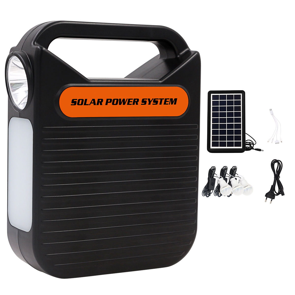Hot Sale Portable Solar Lighting Power System with Solar Panel and bulbs